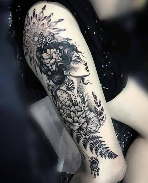 Elegant Look Gypsy Tattoo