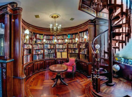 Elegant Traditional Hardwood Home Libraries