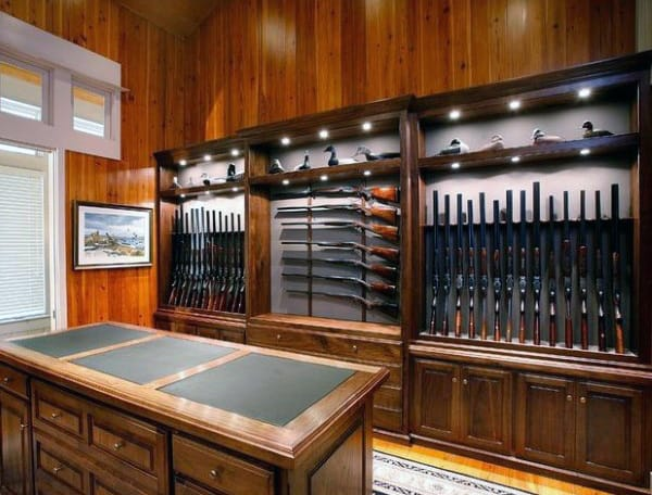 Elegant Wood Gun Room Inspiration