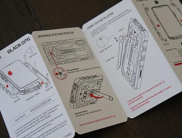 Element Case Black Ops Detial Booklet