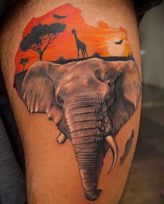 60 africa tattoo designs for men continent ink ideas rh nextluxury com african continent tattoo pics african continent tattoos pictures