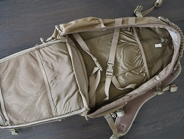Elite Survival Systems Pulse 24 Hour Backpack Main Compartment With Compression Straps