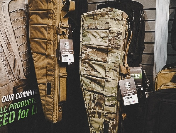 Elite Tactical Rifle Bag In Black Coyote And Multicam