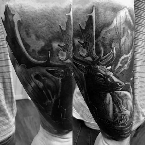 Elk Male Tattoos