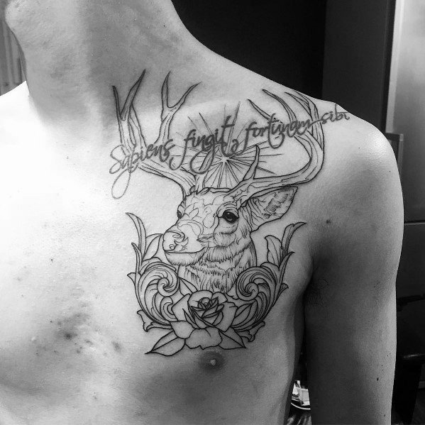 Elk Tattoo Design Ideas For Men