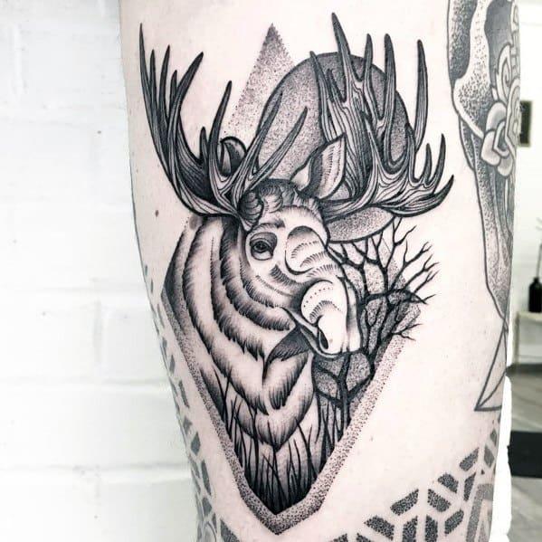 Elk Tattoo Designs For Men