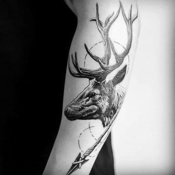 Elk Tattoo Inspiration For Men