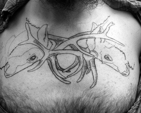 Elk Tattoos For Gentlemen