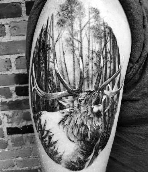 Elk Tattoos For Men