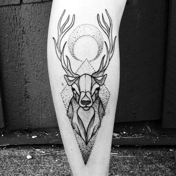 Elk Themed Tattoo Design Inspiration