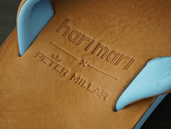 Embossed Leather Limited Edition Hari Mari Peter Millar Flip Flops For Guys