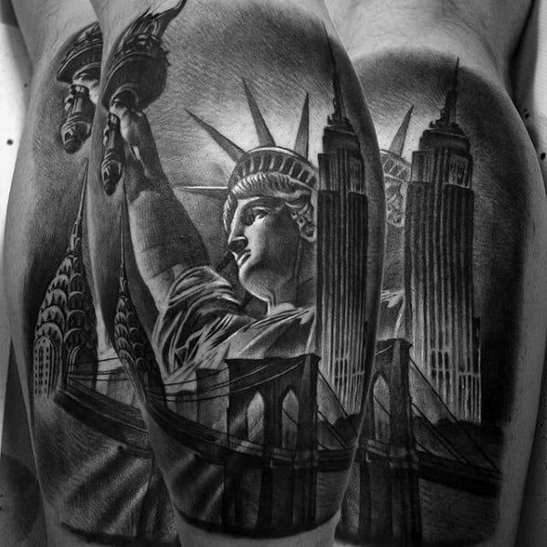 Empire State Building Male Tattoos