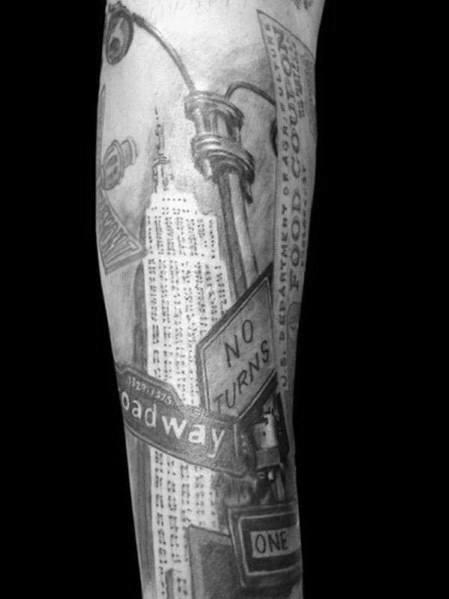 Empire State Building Mens Tattoos