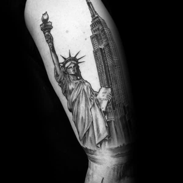 Empire State Building Tattoo Design Ideas For Men