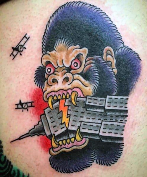 Empire State Building Tattoo Designs For Gentlemen