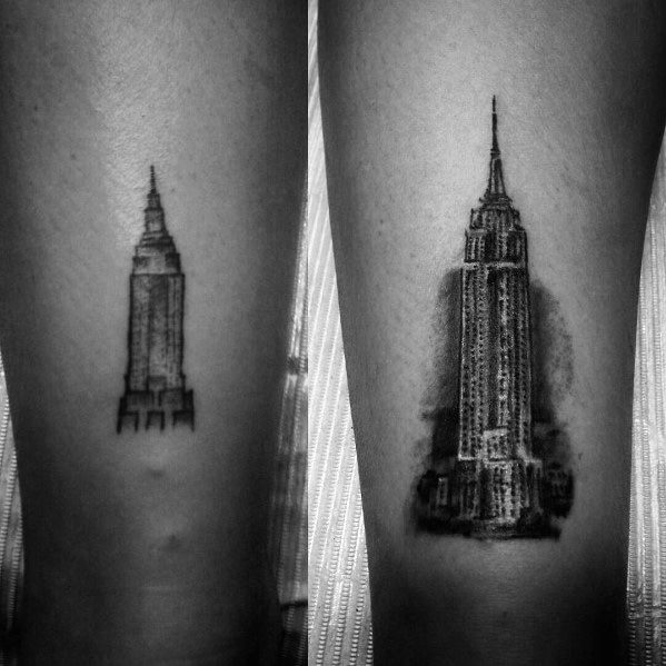 Empire State Building Tattoo Designs For Men