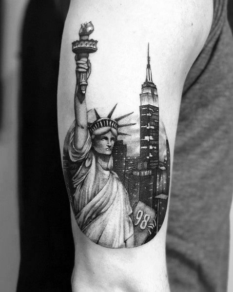 Empire State Building Themed Tattoo Ideas For Men