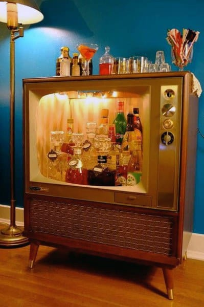 Empty Tv Cart Themed Mini Bar Ideas Designs