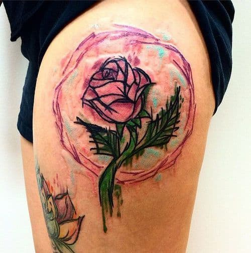 Enchanted Rose Magical Disney Tattoo