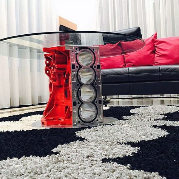 Engine Block Coffee Table Man Cave Decor Ideas