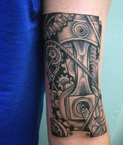 Engine Tattoos Of Piston For Males