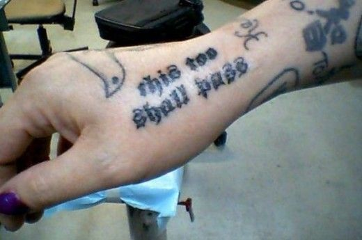 English Old This Too Shall Pass Tattoo