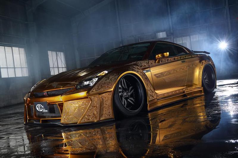 Engraved Gold Nissan GT-R on the Market