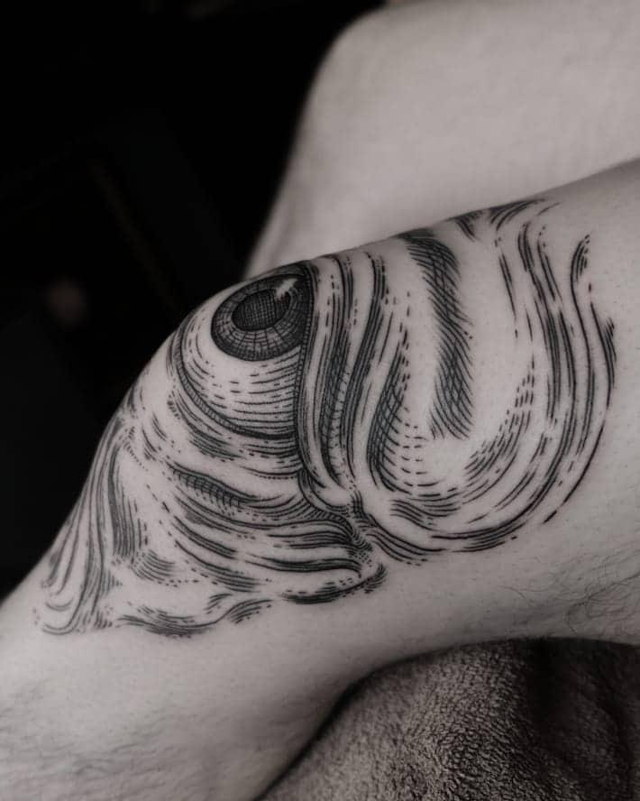 Engraving Third Eye Tattoo