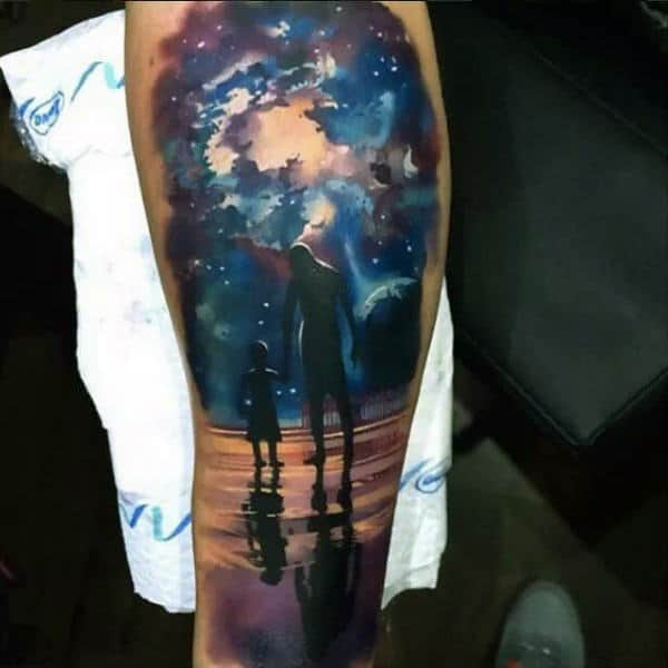 75 universe tattoo designs for men matter and space - Universe Arm Tattoos Galleryhip Com The Hippest Galleries