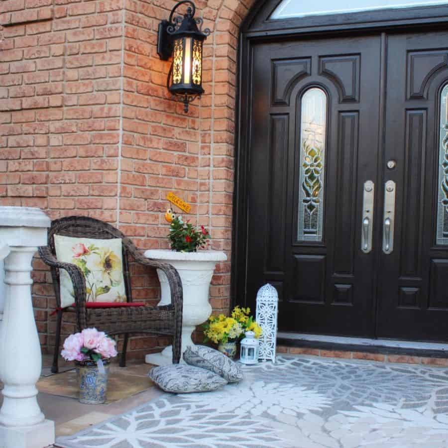 Entrance Porch Porch Ideas Mays Creations