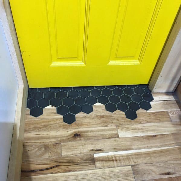 Entrance Tile To Wood Floor Transition Design Idea Inspiration