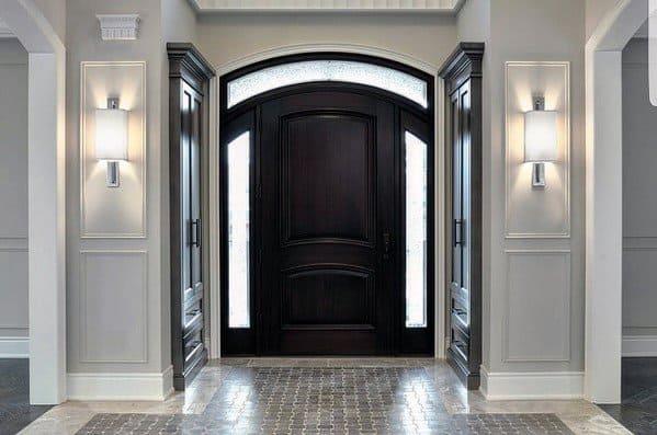 Entryway Foyer Modern Baseboard Ideas