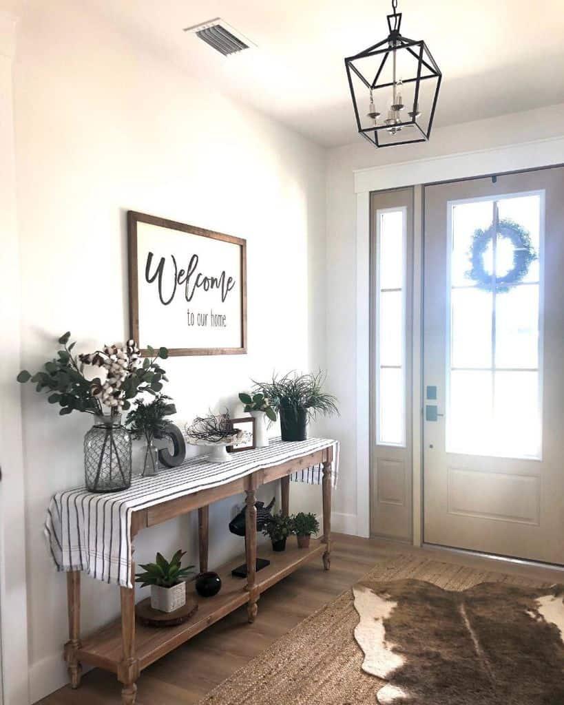 Entryway Modern Farmhouse Decor Designingthedays