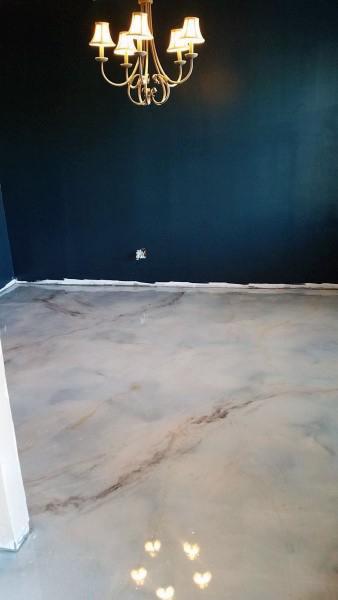 Epoxy Dining Room Concrete Floor Ideas