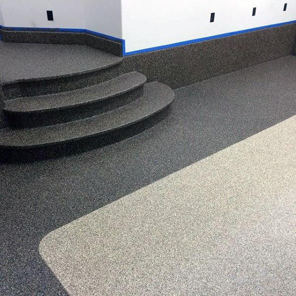 Epoxy Paint Rubber Garage Flooring Ideas