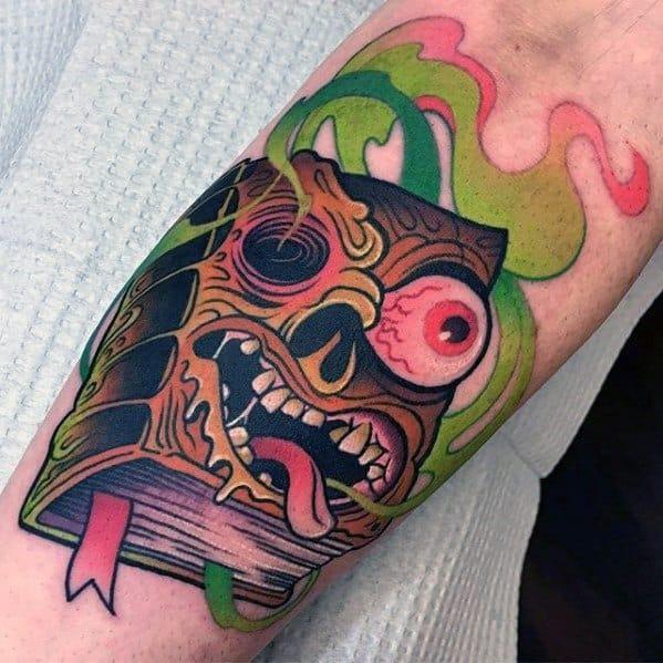 Evil Dead Masculine Horror Movie Tattoos For Men