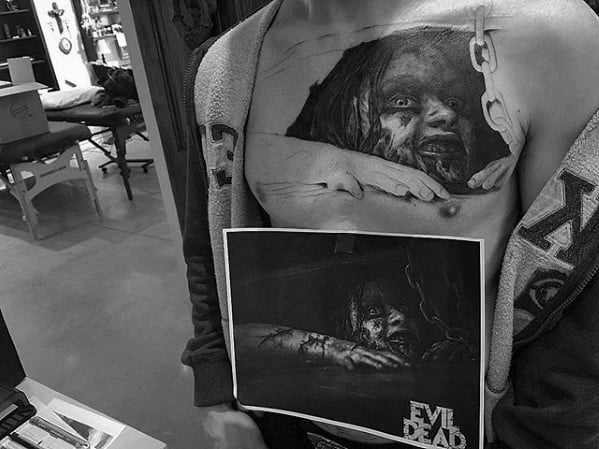 Evil Dead Mens Tattoo Designs