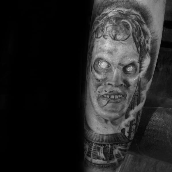 Evil Dead Tattoo Designs On Gentleman