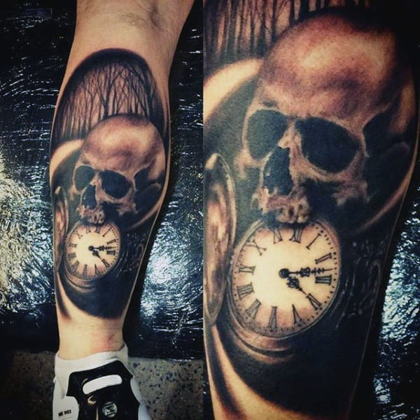100 Pocket Watch Tattoo Designs For Men Cool Ink Timepieces