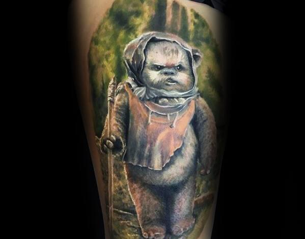 Ewok Male Tattoo Designs