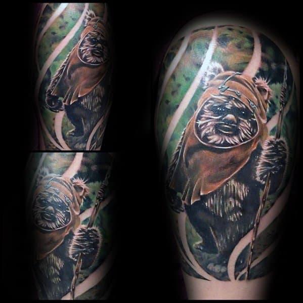 Ewok Tattoo Design Ideas For Males