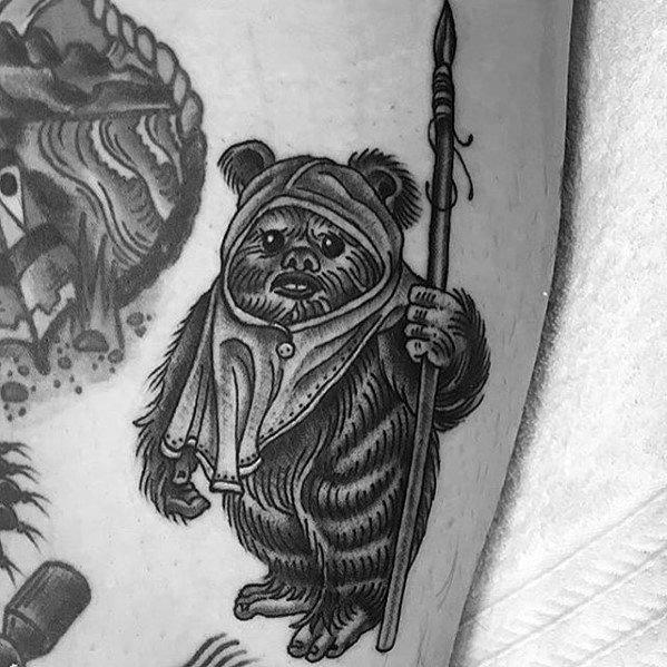 Ewok Tattoo Designs For Guys