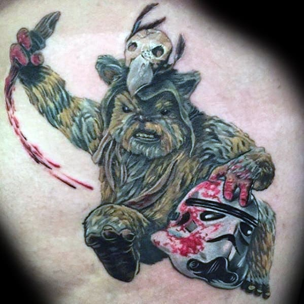 Ewok Tattoo Ideas For Males