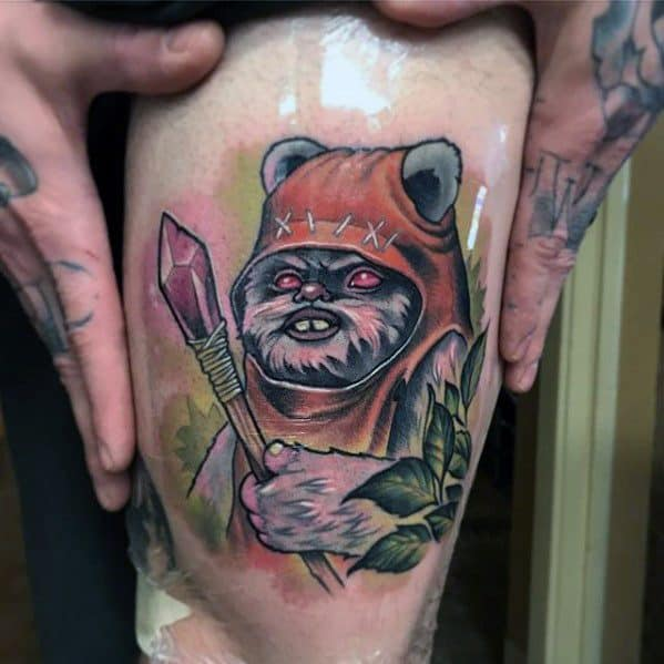 Ewok Tattoo Ideas On Guys
