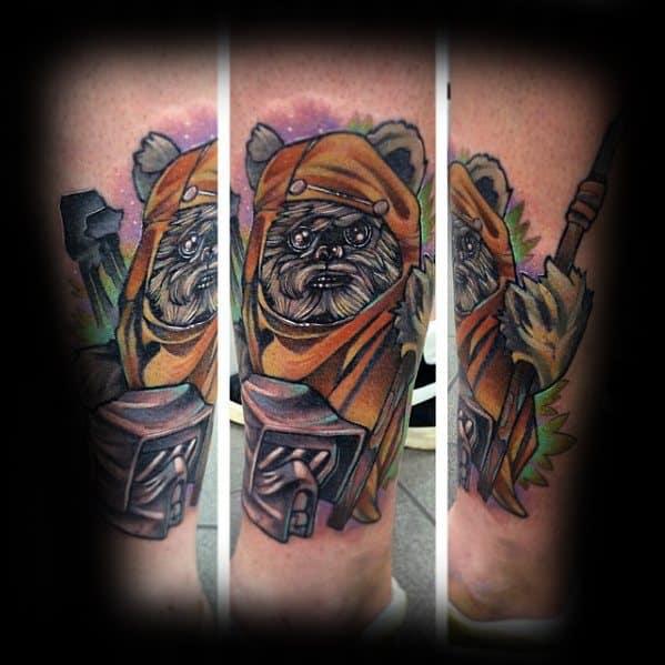 Ewok Tattoo On Men