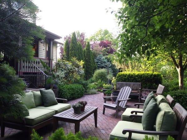 Excellent Backyard Ideas Brick Patio