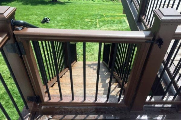 Excellent Backyard Ideas Composite And Metal Balusters Deck Gate