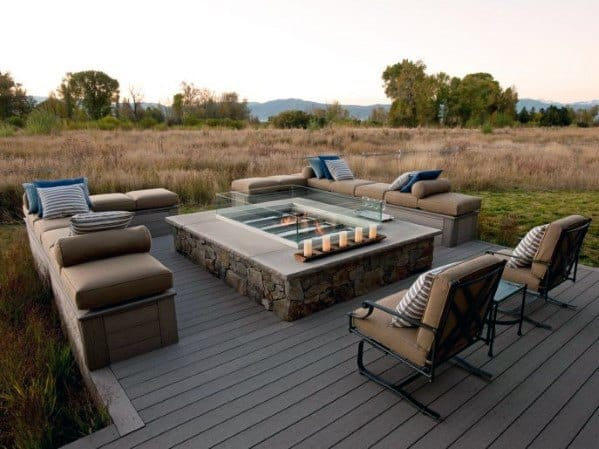 Excellent Backyard Ideas Deck Fire Pit