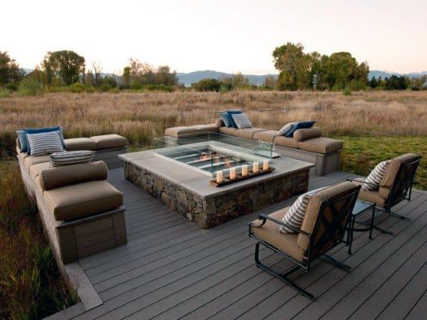 Excellent Backyard Ideas Deck Fire Pit