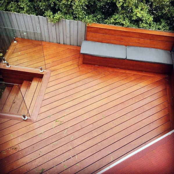 Excellent Backyard Ideas Deck Steps With Glass Railing Panels